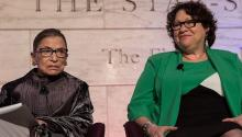 The associated judges, Ruth Bader Ginsburg and Sonia Sotomayor, during a discussion at the National Museum of History of the United States. (NMNH)