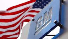 The American flag flies at the General Motors (GM) world headquarters in Detroit, United States, on November 19, 2008. GM announced on November 26, 2018, the closure of seven plants around the world in the framework of a restructuring plan. EFE/Jeff Kowalsky