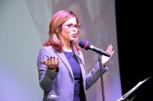 Jennifer Rodríguez, President and CEO of the Greater Philadelphia Hispanic Chamber of Commerce, spoke at the 28th Annual Meeting. (Peter Fitzpatrick)