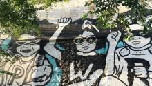 Graffiti in the Getsemaní neighborhood of Cartagena de Indias