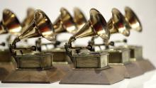 Grammy Awards statuettes.