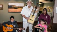 Chicano artist Xavier Montes founded and taught art and music courses for children, and worked with adolescents at risk. Via The Fillmore Gazette.