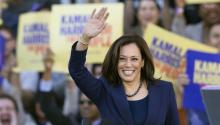 US Senator Kamala Harris greets the crowd at a campaign rally in her hometown of Oakland, California, USA, on January 27, 2019. Harris announced her presidential campaign on the morning of Martin Luther King Jr. Day EFE / EPA / D. ROSS CAMERON