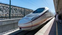 El AVE es el tren de altavelocidadde España. Foto:steven_yu