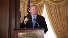 Mayor Jim Kenney speaks at an AL DÍA event in October. Samantha Laub / AL DÍA News