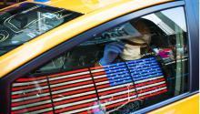 Un taxista hispano deNueva York durante la pandemia.Foto:EDUARDO MUNOZ ALVAREZ / GETTY IMAGES