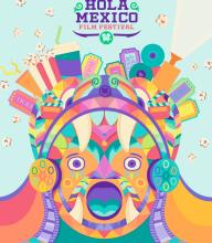 """Official poster of the """"Hola Mexico Film Festival."""