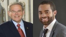 Senator Bob Menendez (D-NJ) and lawyer and political specialist, Michael Starr Hopkins.