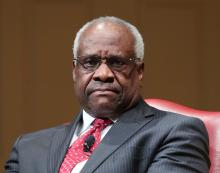 Supreme Court Associate Justice Clarence Thomas, at an event at the Library of Congress in February. Photo: Pablo Martinez/AP