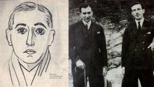 (Izq) Vicente Huidobro retratado por Picasso. (Dcha) Vicente Huidobro y el poeta español Gerardo Diego en 1922.