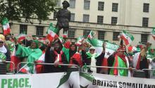 Ciudadanos somalíes se manifestaron en Londres el pasado 18 de mayo, exigiendo el respeto a los derechos civiles y humanos en su país. LBWPhoto