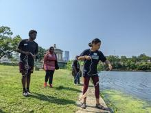 Amira Parkerand Jon'avin Freeman, Fellows at the Fairmount Water Works, are developing an educational activity book for high school students on watersheds and river health.