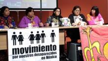 Familiares de desaparecidos en México participaron en una mesa redonda el pasado enero en Barcelona para denunciar ante el mundo este drama que sacude México desde hace décadas. Foto: Andrea Rodés