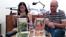 "La autora cubana Gabriela Guerra Rey durante la presentación de la novela ""Bahía de Sal"", ganadora del Premio Juan Rulfo a la primera novela, en Barcelona. Foto: Andrea Rodés"