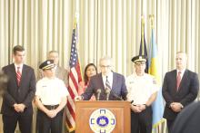 Philadelphia District Attorney announces the arrest of more than 57 individuals in connection with a powerful drug trafficking ring in Kensington