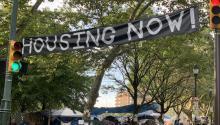 La acampada de viviendas en el Benjamin Franklin Parkway llegó a supunto de ebullicióndurante el verano. FOTOGRAFÍA: Maritza Zuluaga/AL DÍA News