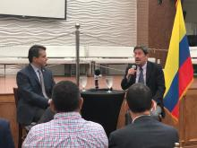 On Monday, June 17, 2019, Colombian Ambassador to the U.S., Francisco Santos Calderón, visited Philadelphia to speak on the Venezuelan refugee crisis in Colombia. Video/Photo by: Sandra Rodriguez/AL DÍA News