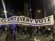 Protests were held in Philadelphia last night confronting a number of national discussions.Photo: Maritza Zuluaga / AL DIA
