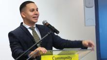 Darryl Irizarry, oficial superior de desarrollo en el Community College of Philadelphia, durante la Conferencia de Conversaciones HAPPI de 2018 el 15 de noviembre de 2018. Foto: Jensen Toussaint/AL DÍA News