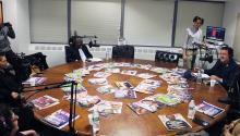 """Una grabación del podcast en vivo con líderes de los medios de Filadefiahablando de """"la diversidad en los medios"""" que se llevó a cabo el 6 de diciembre. Foto: AL DÍA News"""
