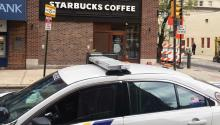 The Starbucks coffeehouse at 18th and Spruce Streets where the 'arrest incident' happened last week. Photo: Linn Washington Jr.