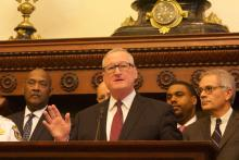 Philadelphia Mayor Jim Kenney both praised the police for their work during the shooting on Aug. 14 and called on legislators in PA to address gun violence. Photo: Michelle Myers/AL DÍA News.