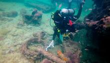 Labores de arqueología subacuática en el suroeste de México. Photo: INAH