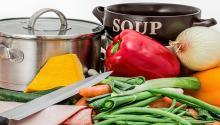 Ingredientes para preparar una sopa