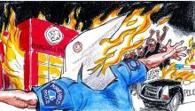 El artista brasileñoCarlos Latuff. Photo: Twitter.