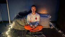 J.Balvin practica meditación al menos dos veces al día durante la cuarentena. Instagram.