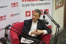 Jeffrey Rosen visited the AL DÍA newsroom on July 10. Photo: Nigel Thompson/AL DÍANews.