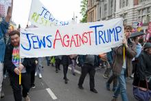 Jews protest against Trump and his language surrounding immigrants, similar to what Nazis used against Jews. (Courtesy Photo)