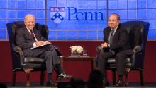 Joseph R. Biden Jr. and Felipe Calderón. Photo taken by Samantha Laub/AL DÍA News.
