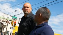 John Fetterman joined future State Rep. Danilo Burgos for a walk through Fairhill on Sept. 22. Photo: Sam Laub