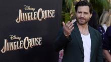 "Edgar Ramirez on the red carpet of ""Jungle Cruise""."