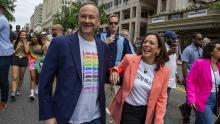 Kamala Harris and Doug Emhoff participated in the Pride March in Washington.