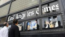 The LA Times has come under fire multiple times this year, this time, for unequal pay.Photo: AP