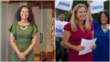 Xochitl Torres Small (I) y Debbie Mucarsel-Powell (D)