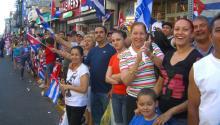 Cubanos celebrandoel CUban Day Parade en Union City, New Jersey. Foto: Wikipedia