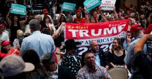Latinos for Trump rally. File image.