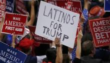 "File photo of a ""Latinos for Trump"" at the Republican National Convention in Ohio, July 20, 2016.CARLO ALLEGRI / Reuters"