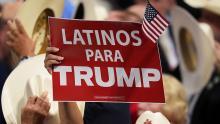 Latinos apoyan a Trump. Fuente: Getty