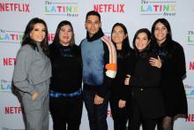 The Latinx House team with Eva Longoria, Wilmer Valderraa and America Ferrara at Sundance 2020. Photo by Owen Hoffman