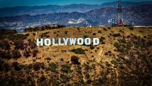 Hollywood sign in California, USA