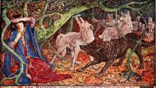"""Imagen de un ejemplar de """"The Olive fairy tale"""", deAndrew Lang, ilustrado por Henry Justice Ford y publicado por Longmans, Green (Londres, Nueva York). El director mexicanoGuillermo del Toro es un fan declarado de los libros de hadas de este autorescocésdel siglo XIX."""