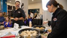 Loco Lucho's live cooking demonstration. Photograph taken by Samantha Laubfor AL DÍA News.