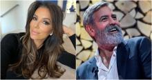 Eva Longoria and George Clooney. Photo from Instagram/EFE.