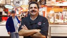 Luis Liceaga at Reading Terminal Market. Photographed by Samantha Laub/AL DÍA News.