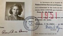 Luisa Moreno, líder sindical de origen guatemalteco, fue deportada hace setenta años, en noviembre de 1950. Courtesy: Stanford University
