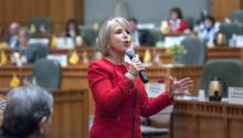 """CHC Chairwoman Rep. Michelle Lujan Grisham (D-N.M.) called the proposal — officially known as the Securing America's Future Act and colloquially as the Goodlatte bill after sponsor Rep. Bob Goodlatte (R-Va.) — the """"Mass Deportation Act."""""""
